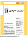 DePauw Weekly, March 13, 2017