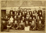 1891 Hanover College Freshman Class Beside Old Classic Hall