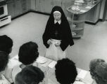 Sister Miriam Clare with students