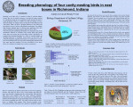 Breeding phenology of four cavity-nesting birds in nest boxes in Richmond, IN