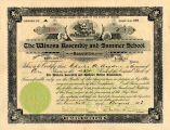 Stock Certificate, Winona Assembly and Summer School Association Stock Certificate