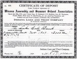 Certificate of Deposit Under Creditor's Agreement of Winona Assembly and Summer School Association