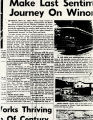 "Winona's ""Last Trip"" Newspaper Article"